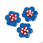 Blue Floral Lampwork Beads