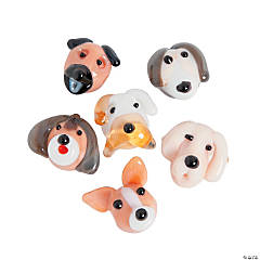 Puppy Lampwork Beads