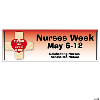 Personalized Small Nurses Week Banner Oriental Trading