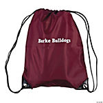 Maroon Personalized Small Drawstring Backpacks