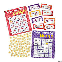 Skip Counting 2, 5, 10 Bingo Game