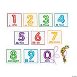 Number Lacing Cards