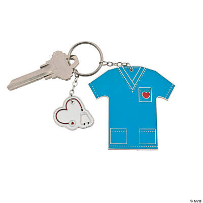 Nursing Is A Work of Heart Key Chain