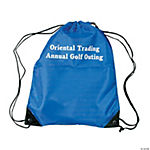 Royal Blue Personalized Small Drawstring Backpacks