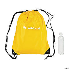 Small Personalized Drawstring Backpacks - Yellow