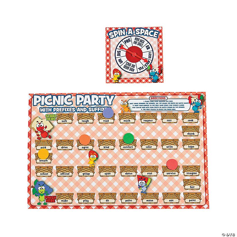 picnic party prefix suffix base word game