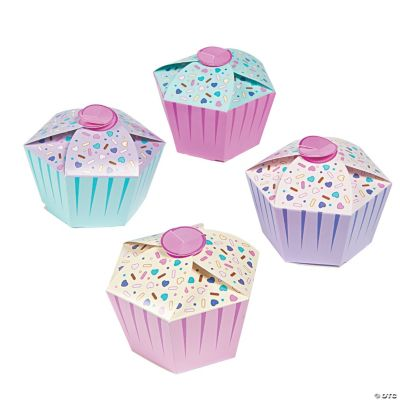 1st Birthday Cupcake Favor Boxes