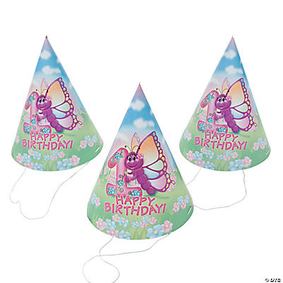 1st Birthday Butterfly Cone Hats