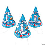 """1st Birthday All Star"" Cone Hats"