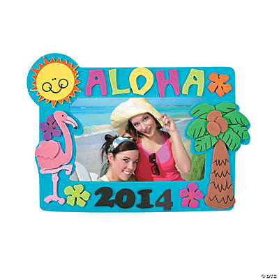 2014 Tropical Picture Frame Magnet Craft Kit