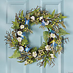 Fiber Optic Butterfly Wreath