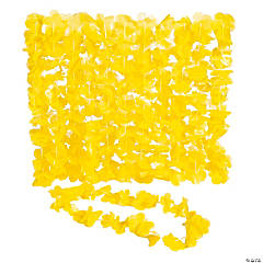 Plastic Yellow Leis