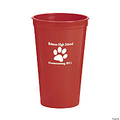 Red Paw Print Personalized Tumblers