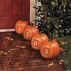 Address Porch Pumpkins