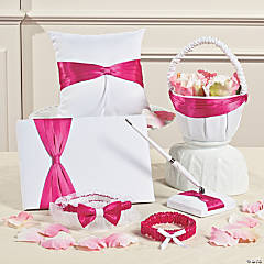 White & Pink Ribbon Wedding Collection