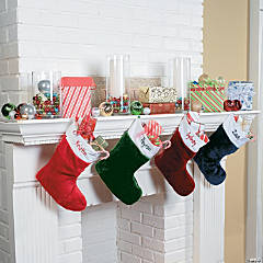 Red, Green & White Mantel Décor