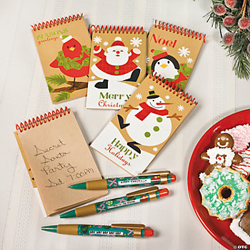 Holiday Notepads & Pens