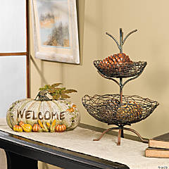 Welcome Pumpkin & Twig Basket