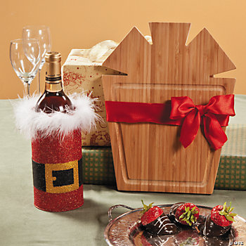 Holiday Cutting Board & Wine Bucket Gift