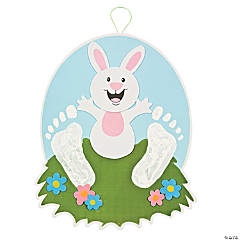 Footprint Easter Bunny Sign Keepsake Craft Kit