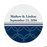 Personalized Nautical Wedding Favor Stickers