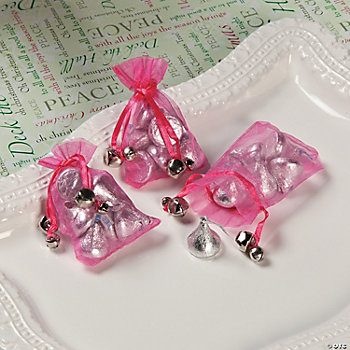 Jingle Bell Organza Bags