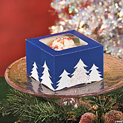 DIY Winter Tree Cupcake Boxes Idea