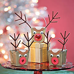 DIY Reindeer Take Out Boxes Idea