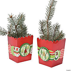 DIY Pine Tree Mini Popcorn Boxes Idea