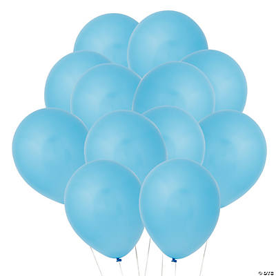 Latex Light Blue Balloons