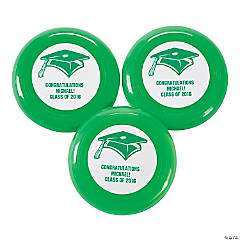 Green Personalized Graduation Mini Disks
