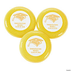 Yellow Personalized Graduation Mini Disks
