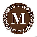 Personalized Chocolate Monogram Wedding Favor Stickers