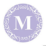 Personalized Lilac Monogram Wedding Favor Stickers