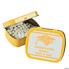 Personalized Yellow Graduation Mint Tins