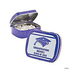 Personalized Purple Graduation Mint Tins