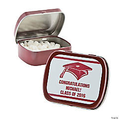 Personalized Burgundy Graduation Mint Tins