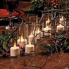 Glass & Candle Tablescape