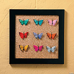 DIY Framed Butterflies Decoration