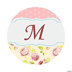 Personalized Vintage Collection Wedding Favor Stickers - 1 1/2