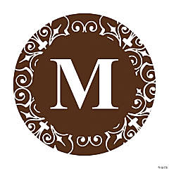 Personalized Chocolate Monogram Favor Stickers