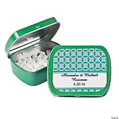 Personalized Patterned Wedding Tins With Mints