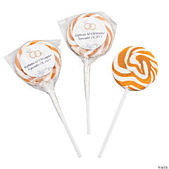 Personalized Gold Wedding Ring Swirl Pops
