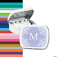 Personalized Monogram Lilac Mint Tins