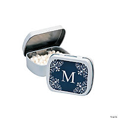 Personalized Navy Blue Monogram Mint Tins