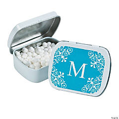 Personalized Monogram Turquoise Mint Tins