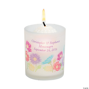 Personalized Love In Bloom Votive Holders