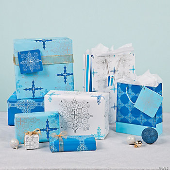 Inspirational Snowflake Gift Wrapping Assortment