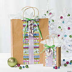 DIY Funky Christmas Gift Bags Idea