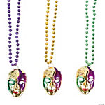 Mardi Gras Necklaces With Mask Charm